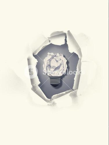 Composite image of  five bulbs which one is in the process of function