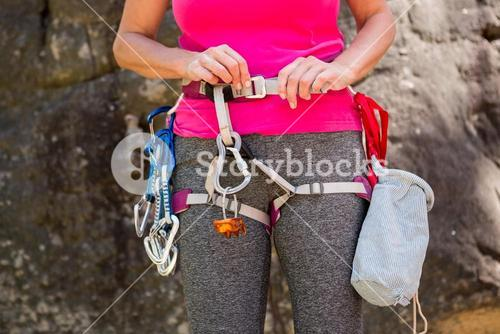 Close up climbing equipment