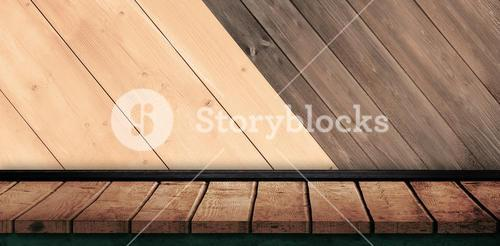 Composite image of a white wall with parquet