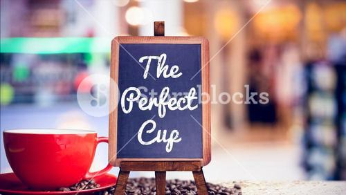 Composite image of the perfect cup