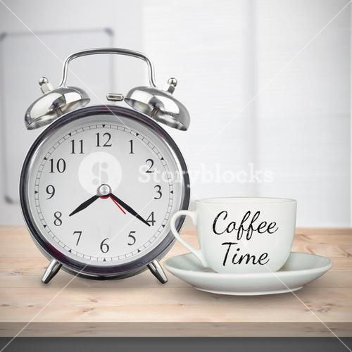 Composite image of coffee time