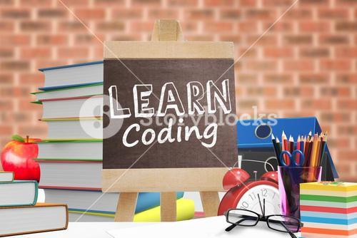 Composite image of learn coding