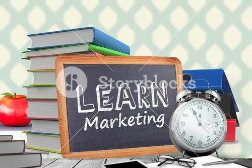 Composite image of learn marketing word