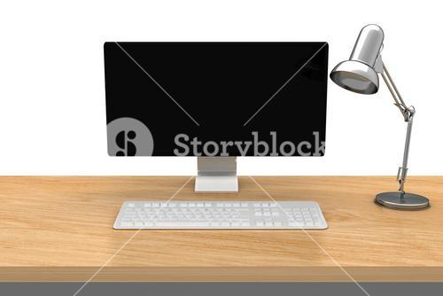 Computer on a desk