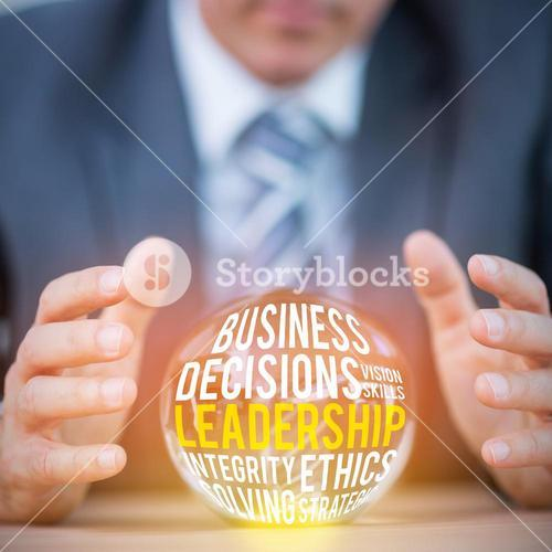 Composite image of the word leadership
