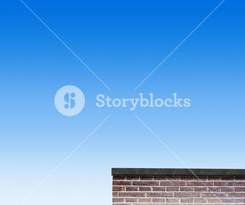 Composite image of red brick wall