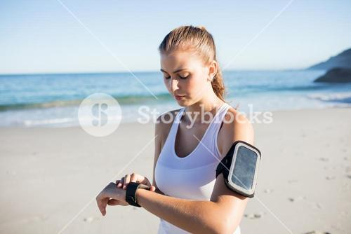 Fit woman on the beach