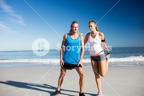 Couple doing sport together