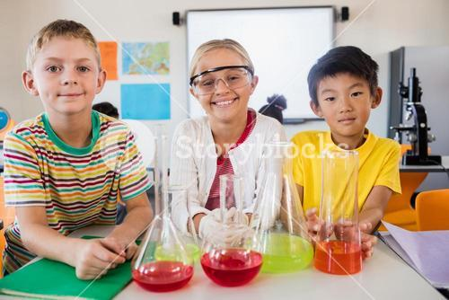 Pupils at science lesson
