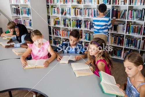 Pupils are reading books
