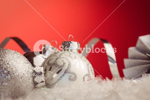 Close up view of christmas bauble