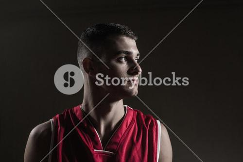 Basketball player looking away