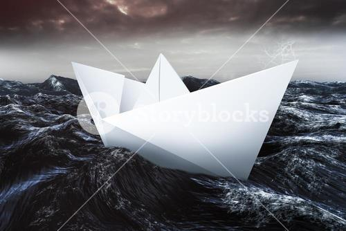 Composite image of virtual image of a origami