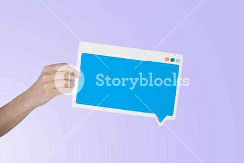 Composite image of businesswoman holding blank sign over white background