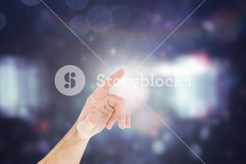 Businessmans hand pointing in shirt