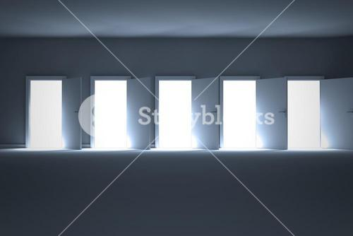 Digital image of open doors