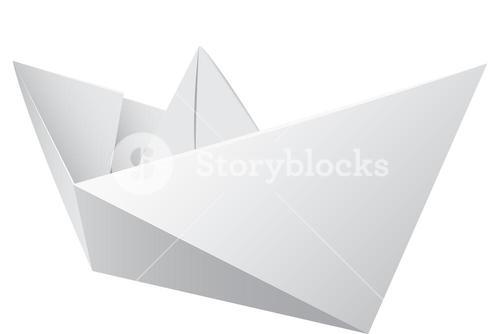 Virtual image of a origami