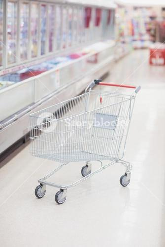 Focus on a lonely trolley