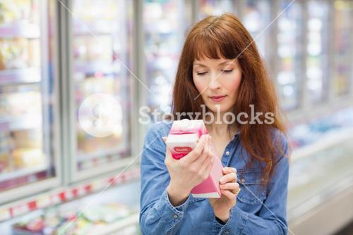 Customer looking at a product
