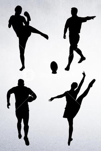 Composition image of people who are doing sport