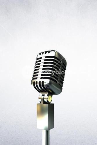 Composite image of people enjoying a microphone