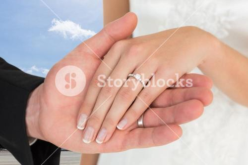 Composite image of married couple