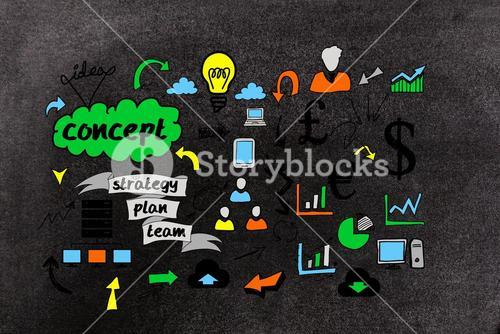 Composite image of diagram business plan