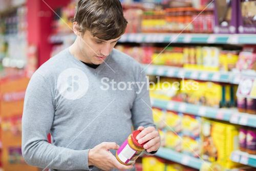 Man doing his groceries