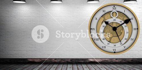Composite image of pretty looking clock