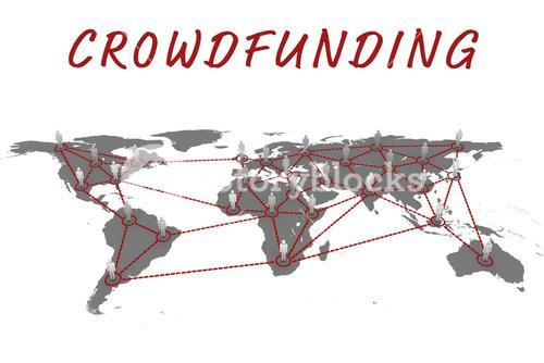 Composite image of the word crowdfunding