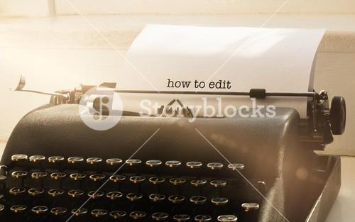 How to edit against typewriter on a table