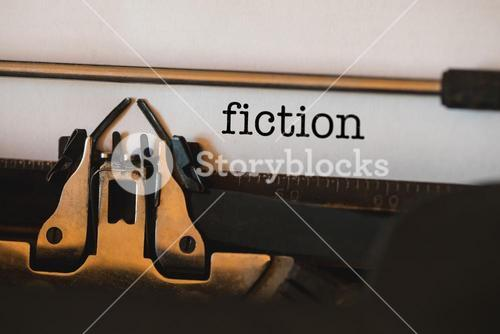 Fiction against close-up of typewriter