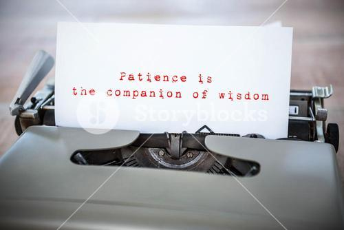 Composite image of patience is the companion of wisdom