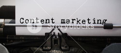 Composite image of content marketing message
