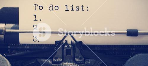 Composite image of a to do list against white background