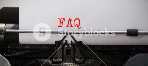 Composite image of the word faq against white background