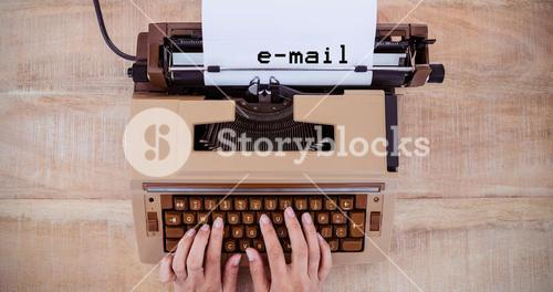 Composite image of e-mail message