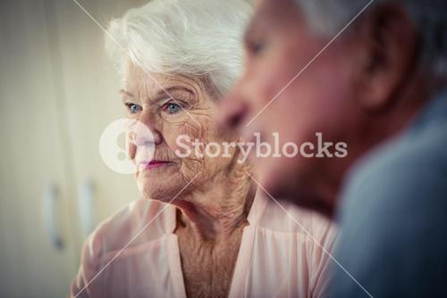 Pensioners interacting