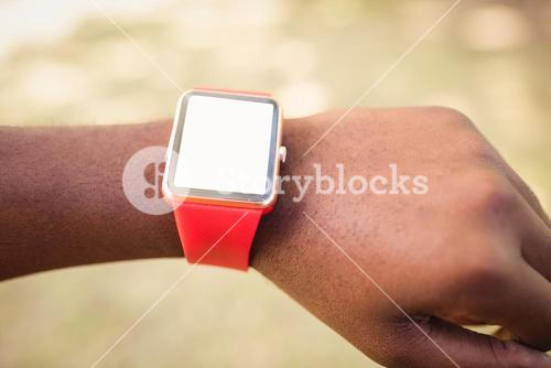 Focus on watch alone with hands