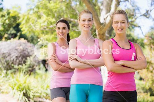 Portrait of young athlete women standing