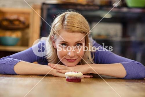 Customer with a cookie