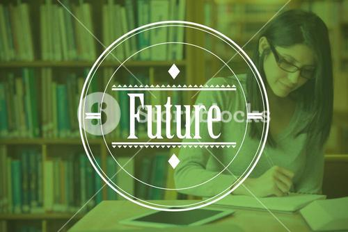 Composite image of the word future