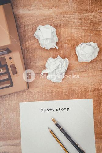 Composite image of short story message