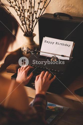Composite image of happy birthday message on a white background