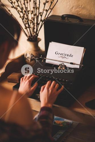 Composite image of gratitude message on a white background
