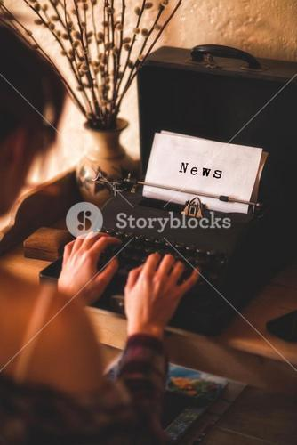Composite image of news message on a white background