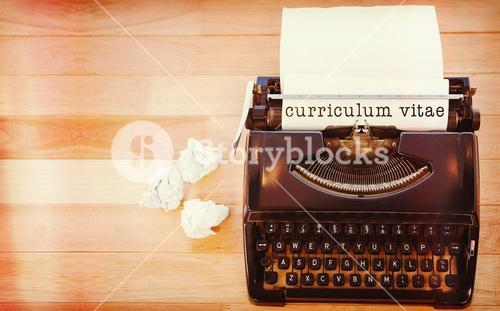 Composite image of curriculum vitae message on a white background
