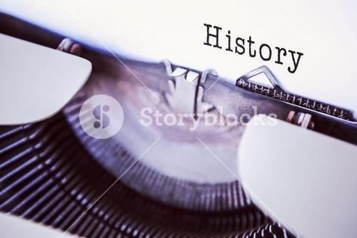 Composite image of history message on a white background