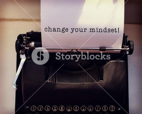 Composite image of change your mindset message on a white background