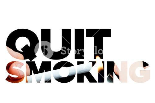 Quit smoking message on a white background